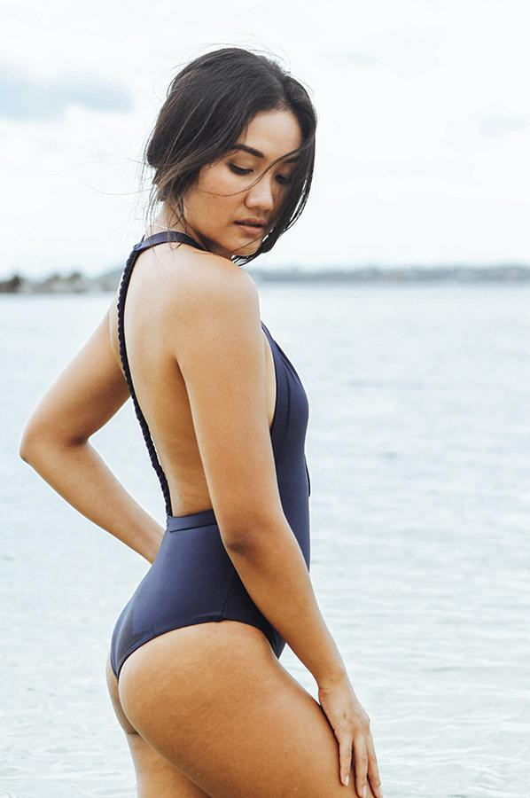 Negritas Navy Bikini One Piece Swimmie