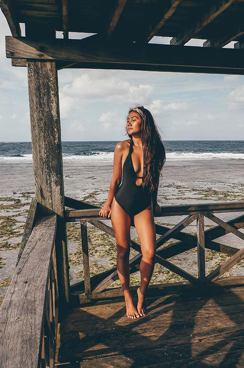Negritas Black Bikini One Piece Swimmie