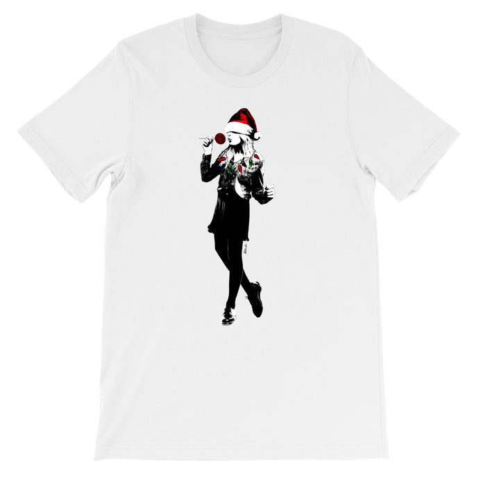 Christmas Girl Holiday White T-Shirt - Tee Outcast