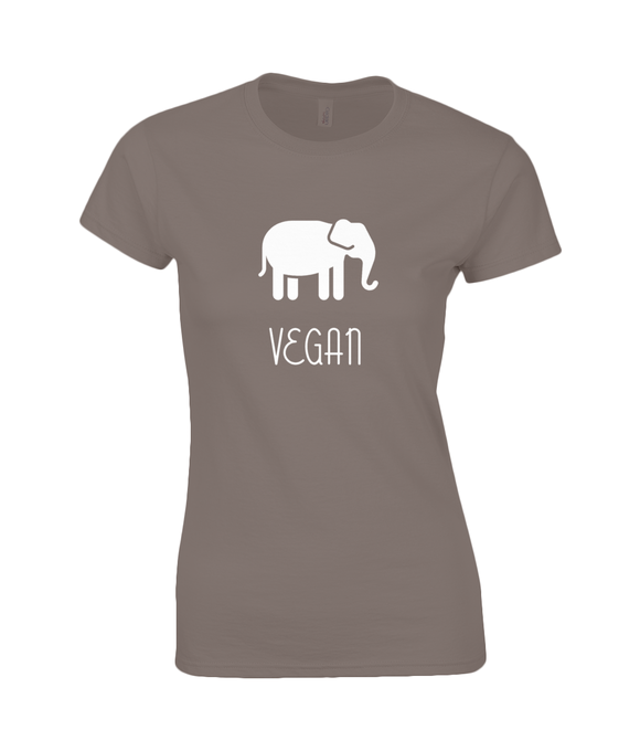 Ladies Fitted Cotton T-Shirt - Elephant