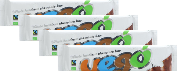 VEGO - Whole Hazelnut Chocolate Bar (150g) x 4