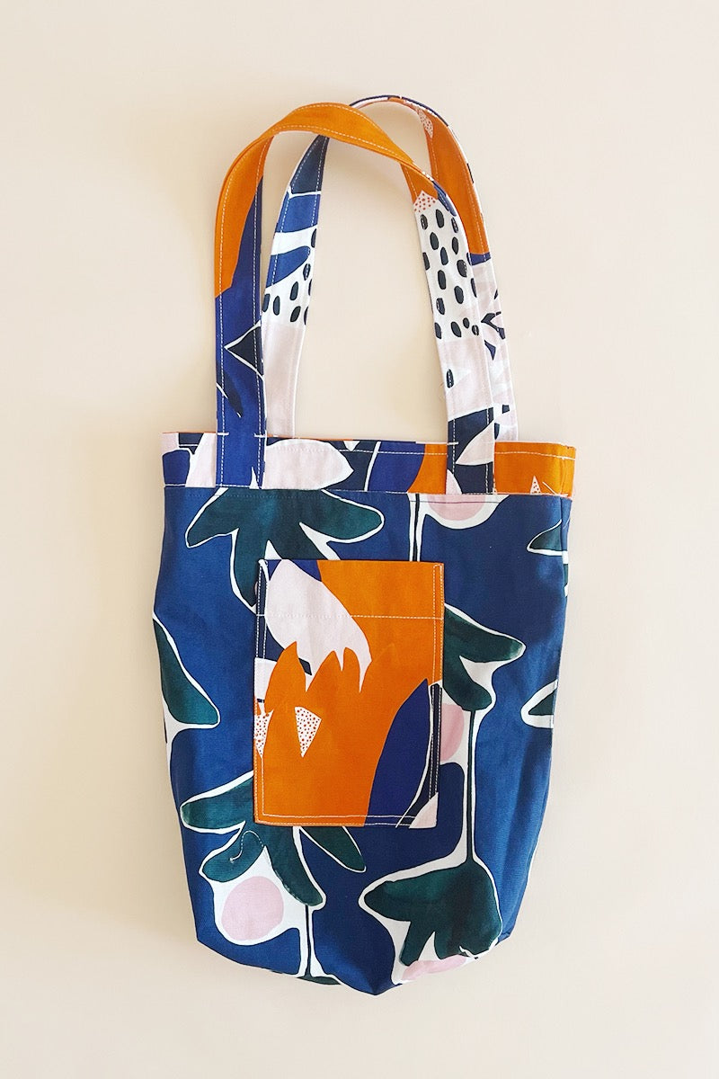 Reversible Tote Bag in Protea & Sugarbush Prints by Variety Hour