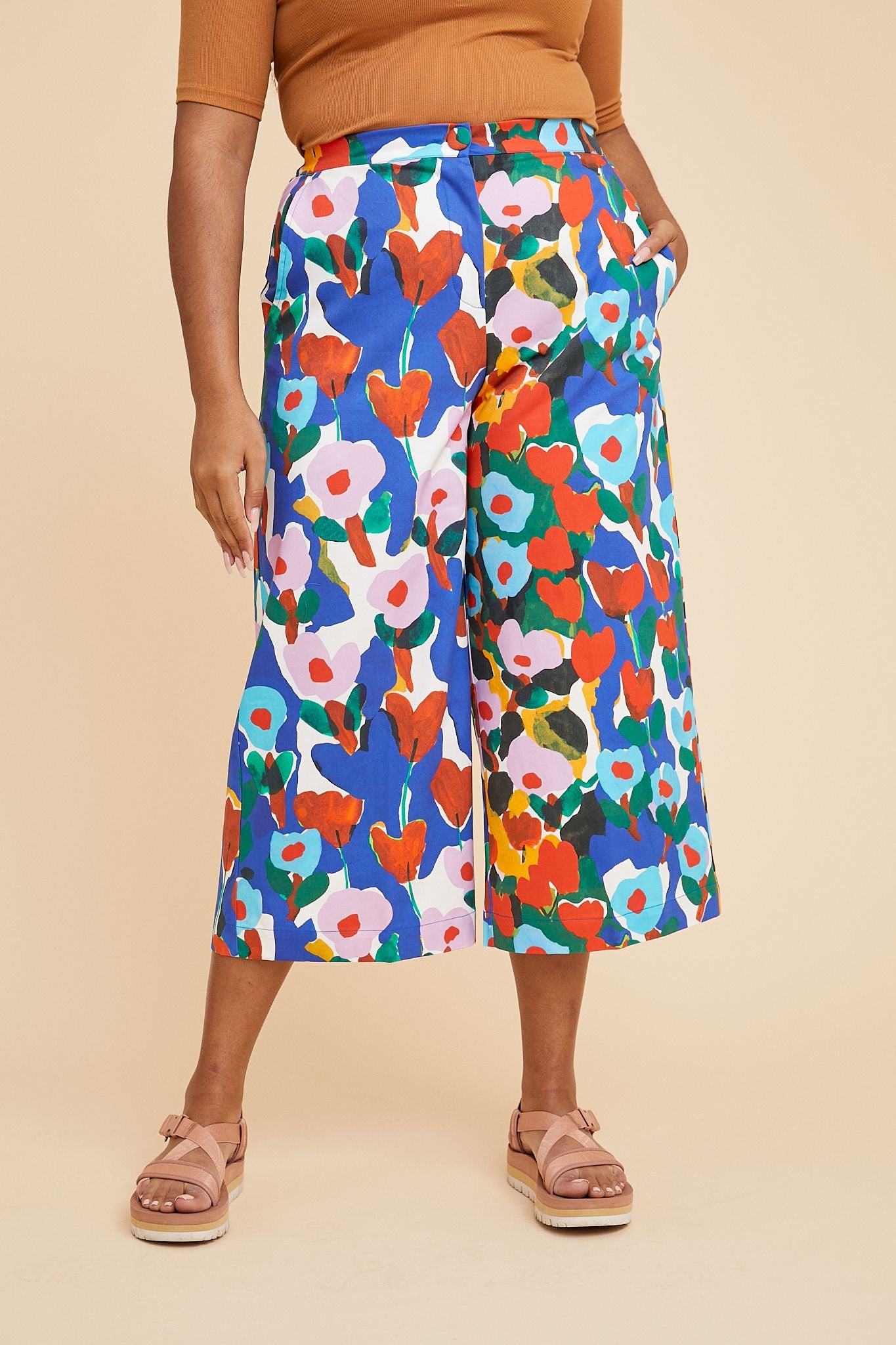 Variety Hour Wide Leg Pant in Tulip Print, Designed by Cassie Byrnes