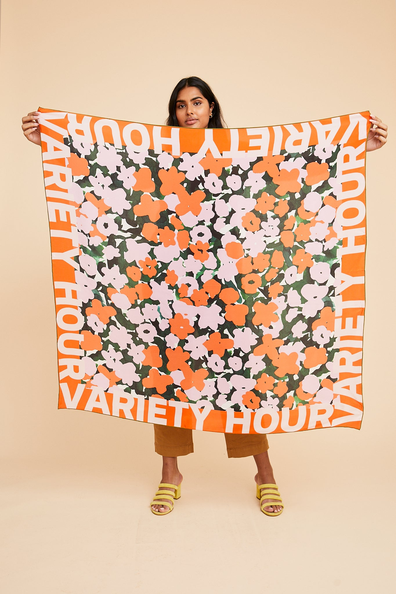 Variety Hour Silk Scarf in Hedge Print, Designed by Cassie Byrnes