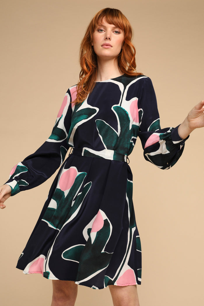 SILK SWING DRESS - PROTEA