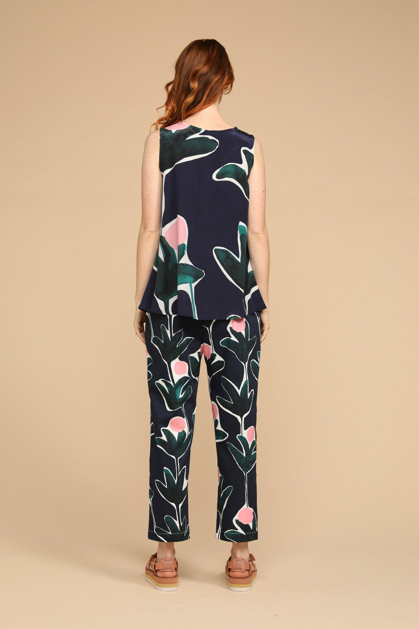 Formation Pants by Variety Hour in Protea Print, Designed by Cassie Byrnes