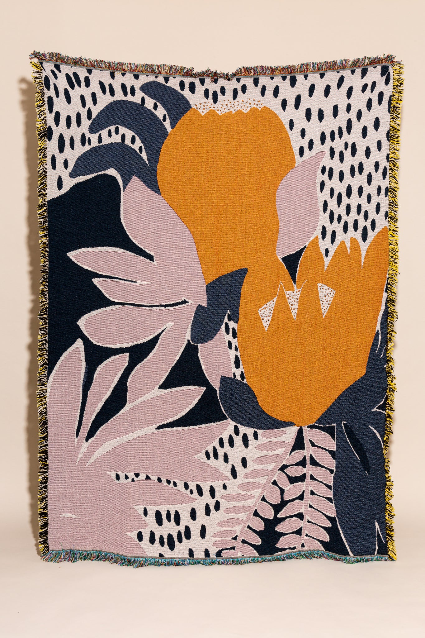Jacquard Woven Throw in Sugarbush Print by Cassie Byrnes for Variety Hour