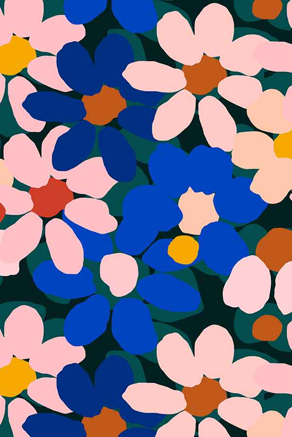 Variety Hour Flower Print, Designed by Cassie Byrnes