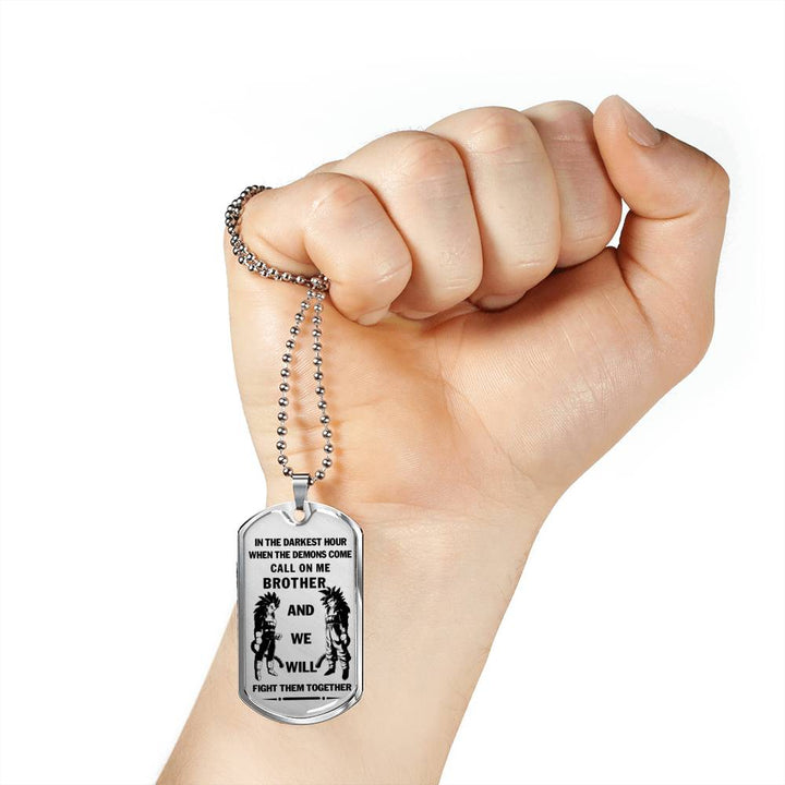 1e886f4c6a021 Personalized Men's Gift Ideas For Brother, Friends Dog Tag Pendant Necklace  Dragon Ball - Son Goku SS4 and Vegeta