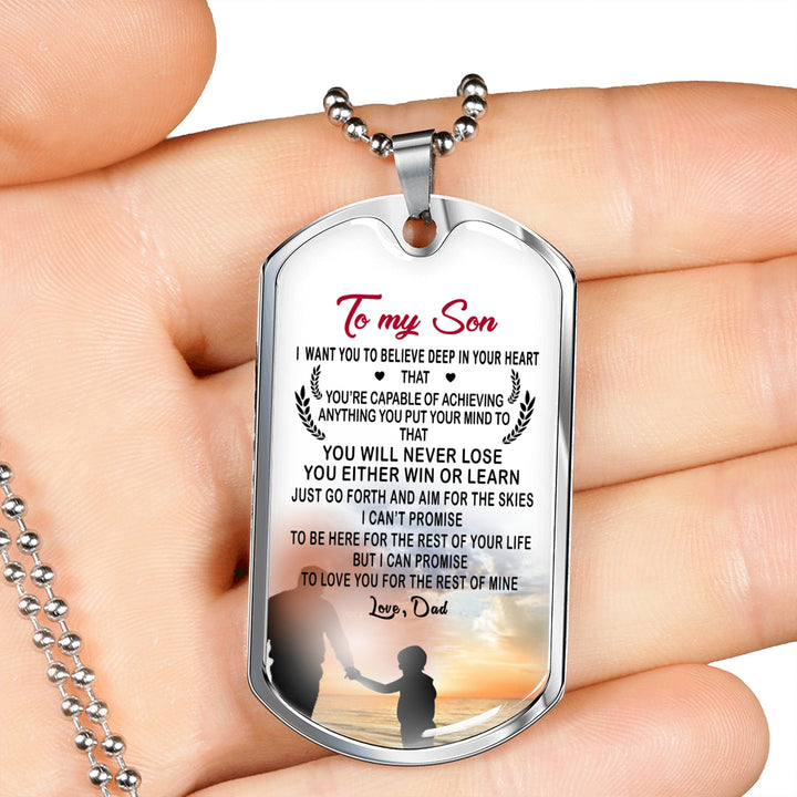 Customized Engraving Father Son Pendant Necklace From Father Birthday  Gifts, Christmas Gift Idea for Kids Luxury Dog Tag Gold & Silver fa-so-01