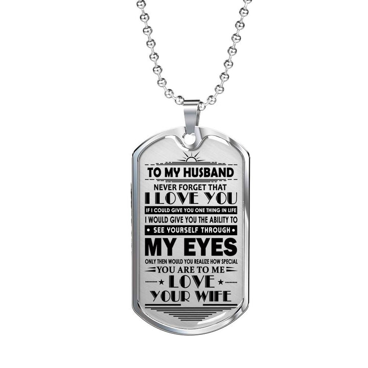 I Love My Husband Pendant Necklace For From Wife Perfect Birthday Gifts