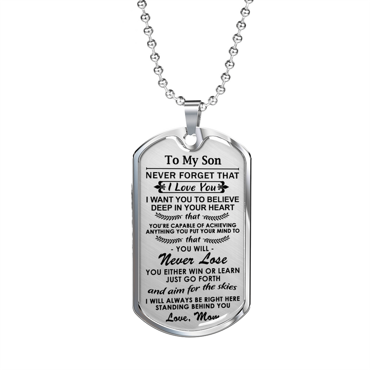 Dog Tag To My Son From Mom