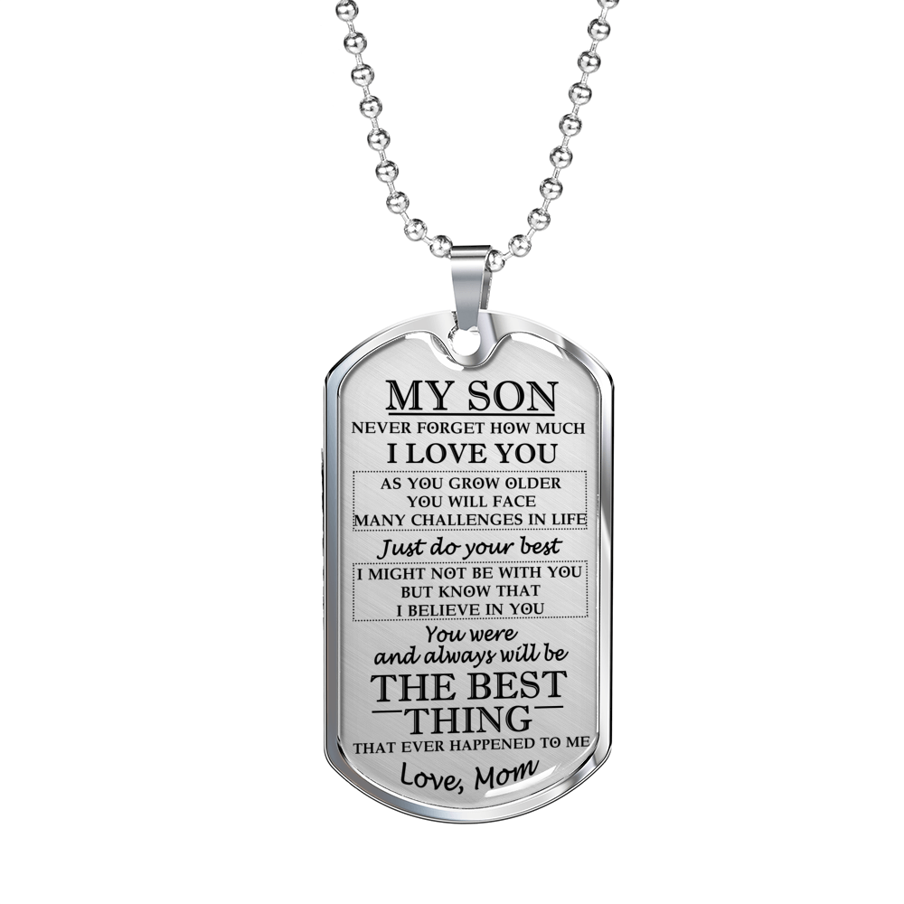 Mother And Son Dog Tag Necklace Chain