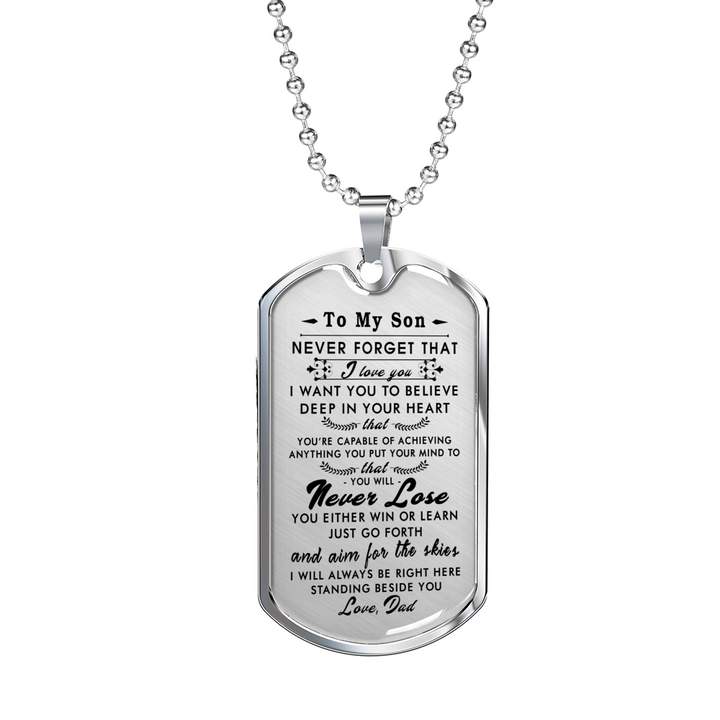 engraved dog tags for son