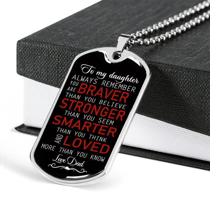 To My Son Necklace Dog Tag Love Dad Christmas Gifts Birthday Gift Ideas For Boys