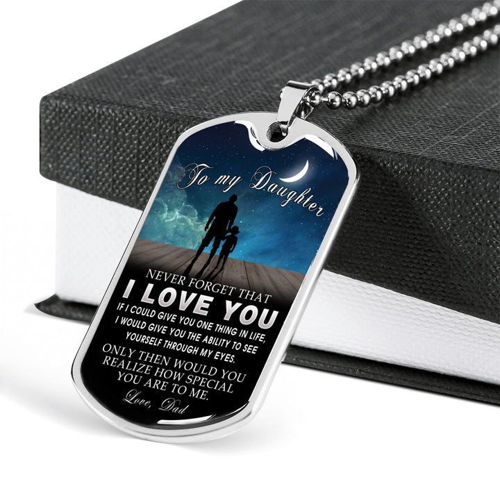 To My Daughter Love Dad See Yourself Through Eyes Birthday Gift Ideas