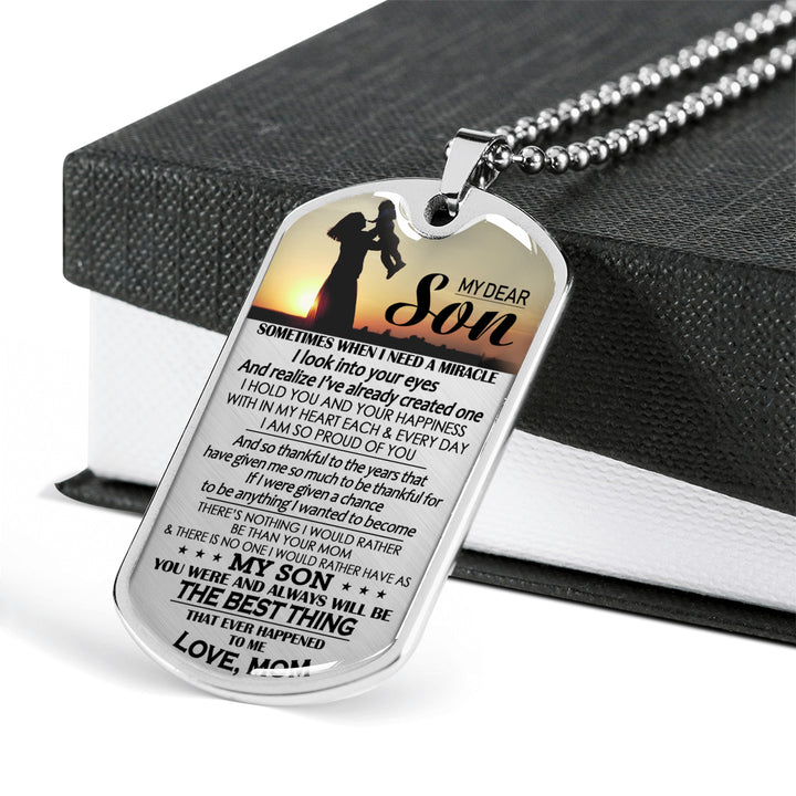 You Are Best Thing Dog Tag Military