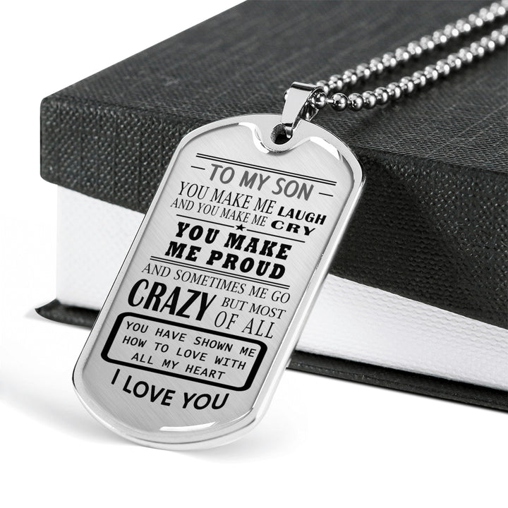 Personalized Engraving Father And Son Jewelry From Dad Birthday Gifts Christmas