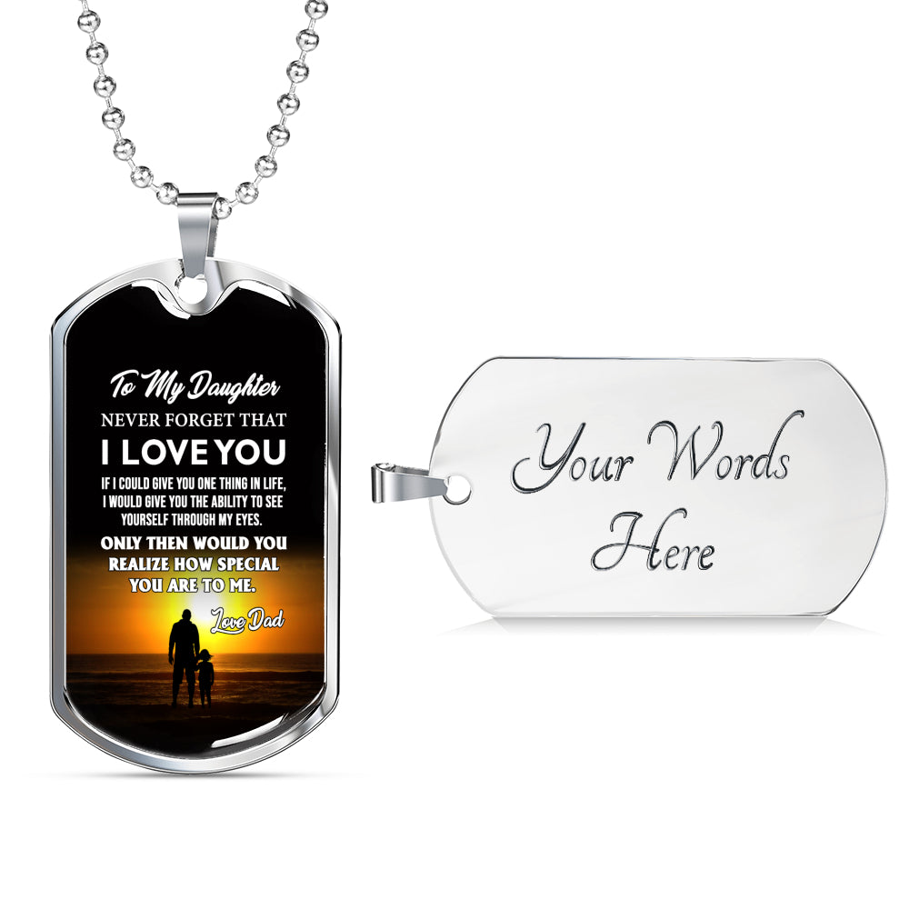 Father And Daughter Jewelry Love Dad Birthday Gifts Christmas Luxury Dog