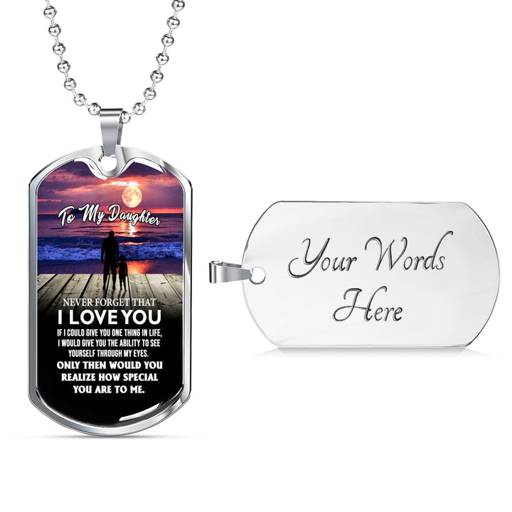 Father And Daughter Pendant Necklace From Dad Birthday Gifts Christmas L