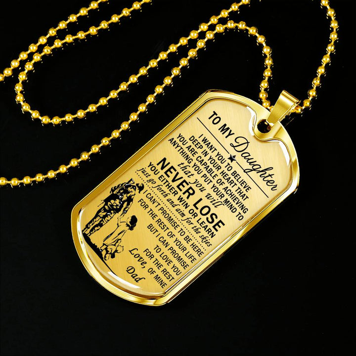 Dog tag Military Soldier From Dad for Daughter -Special Gifts Idea for Teen Girl  sc 1 st  AZ Family Gifts & Dog tag Military Soldier From Dad for Daughter -Special Gifts Idea ...