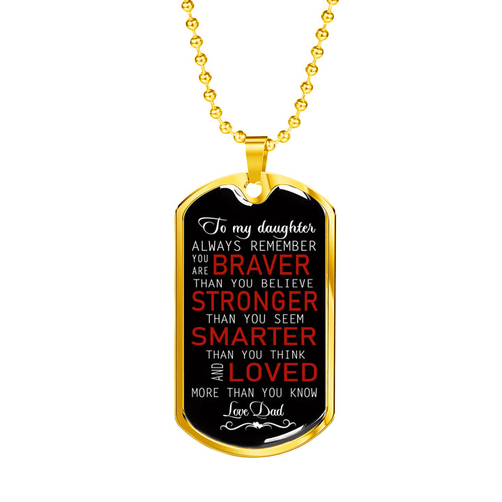 To My Son Necklace Dog Tag Love Dad Christmas Gifts Birthday Gift Ideas For Boy
