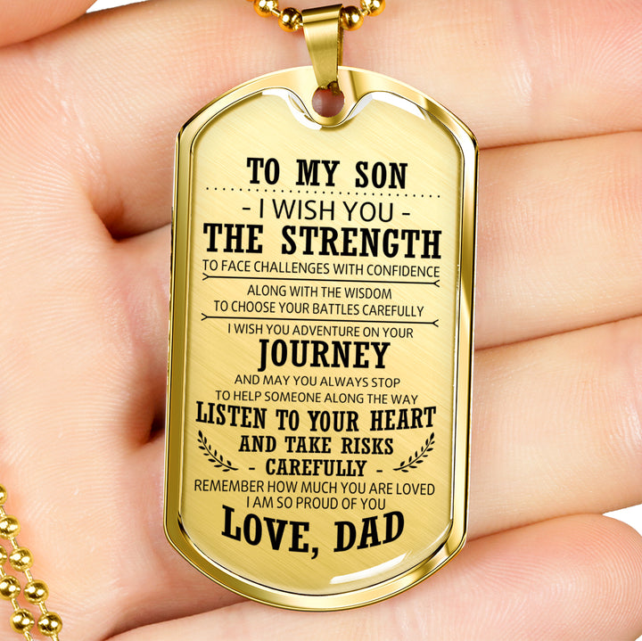 Father Son Quotes Pendant Necklace From Father Christmas Gifts, Birthday  Gift Id
