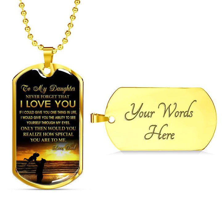 Daughter Quotes Necklace To My