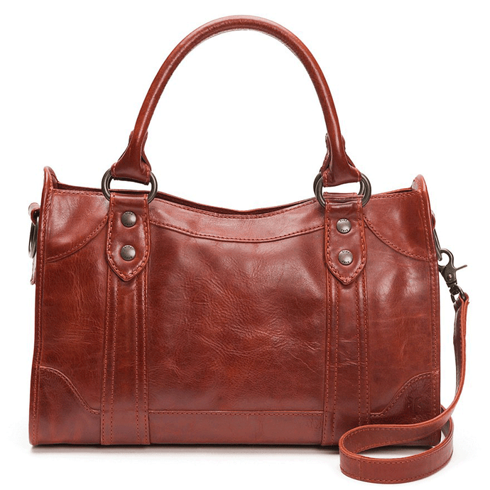 FRYE Melissa Satchel Leather Handbag Review