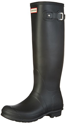 Hunter Women's Original Tall Snow Boot, Black, 8 M