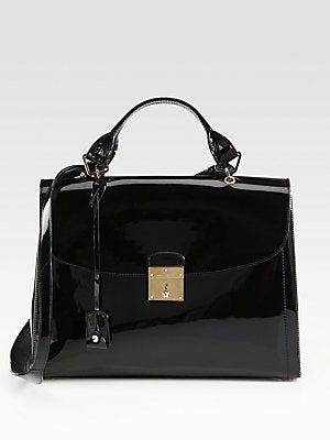 Marc Jacobs 1984 large Satchel in Black Patent