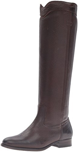 FRYE Women's Cara Roper Tall Riding Boot, Chocolate, 6.5 M US