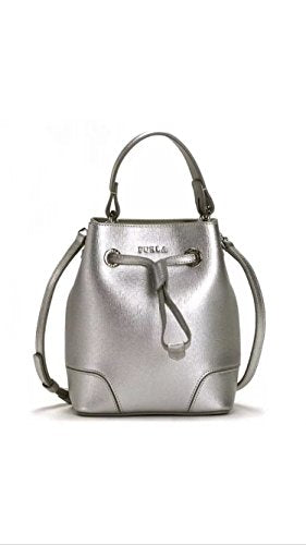Furla Stacy Mini Drawstring Crossbody Handbag Silver