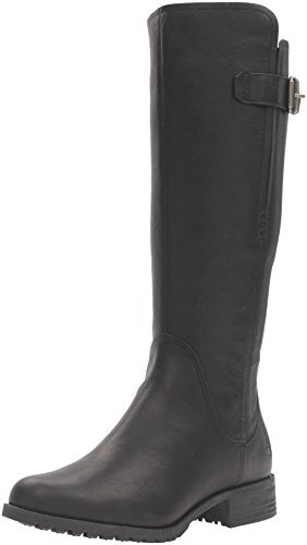 Timberland Women's Banfield Tall Medium Shaft WP Riding Boot, Jet Black Forty, 5.5 M US