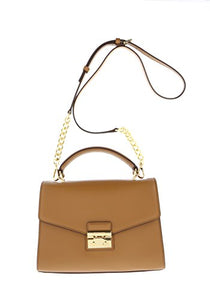 Michael Kors Sloan Top Handle Satchel Polished Leather (Acorn)