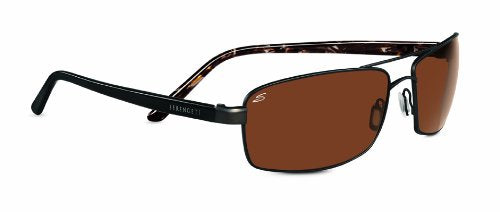 Serengeti Limited Edition Volterra Sunglasses, Polarized Drivers Gold, Luster Gold Plating/Brown Marble