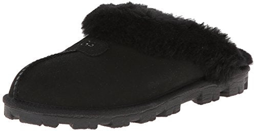 UGG Women's Coquette Slipper, Black, 5 B US