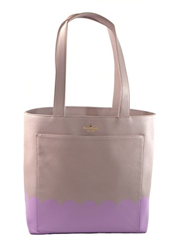 Kate Spade Lita Street Scallop Andrea Leather Tote Shoulder Bag Purse Handbag