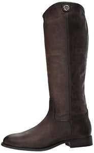 FRYE Women's Melissa Button 2 Riding Boot, Slate, 10 M US