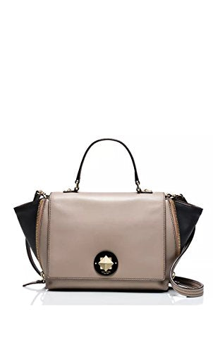 Kate Spade Varick Street Abbie Leather Handbag Shoulder Bag Satchel (Clock Tower/Black)