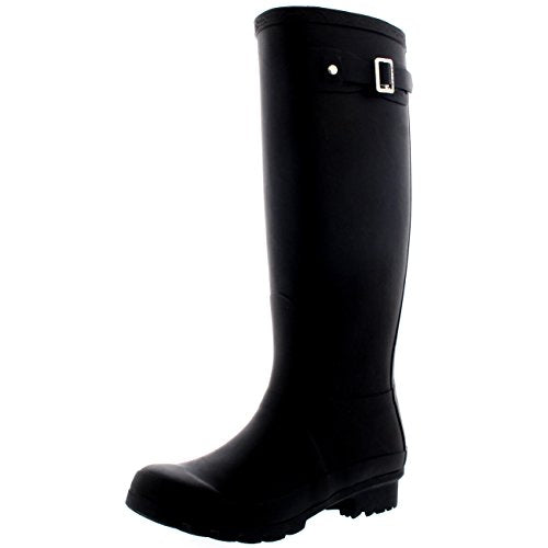 Womens Original Tall Snow Winter Wellington Waterproof Rain Wellies Boot - Black - 9 - 40 - CD0001