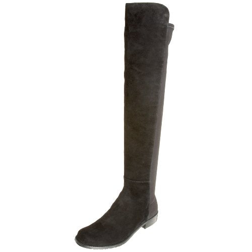 Stuart Weitzman Women's 5050 Over-the-Knee Boot,Black Suede,8.5 M US