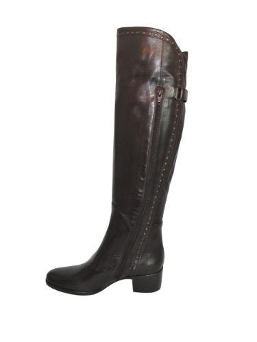 Women's over the knee Italian Leather boots 179918 brown by Le Pepe size 37.5