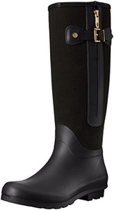 Tommy Hilfiger Women's Mela Rain Boot, Black, 7 M US