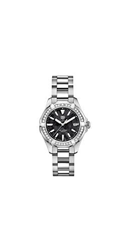bc40468694402 Tag Heuer Aquaracer Black Mother of Pearl Dial Ladies Diamond Watch  WAY131P.BA0748