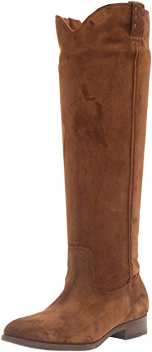 FRYE Women's Cara Tall Suede Slouch Boot, Wood, 7 M US