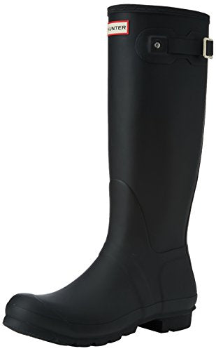 Hunter Women's Original Tall Wellington Boots, Black - 5 B(M) US