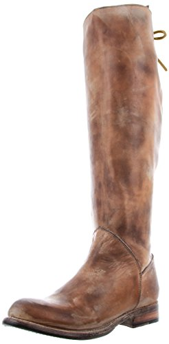 Bed Stu Women's Manchester Knee-High Boot, Tan Rustic/White, 9.5 M US
