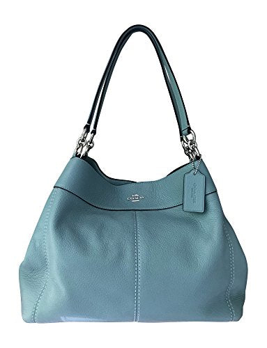 Coach Pebbled Leather Lexy Shoulderbag, Aquamarine