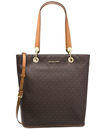 MICHAEL Michael Kors Raven Large North South Top Zip Tote (Signature Brown)